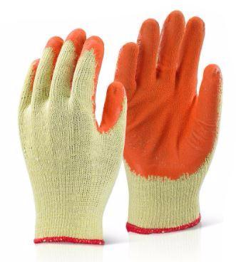 ECONOMY GRIP GLOVE ORANGE (PK 10 PAIRS)