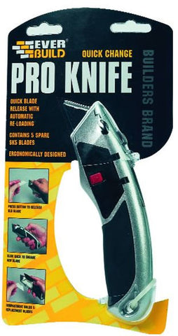 PROFESSIONAL QUICK CHANGE KNIFE INCLUDES 5 BLADES