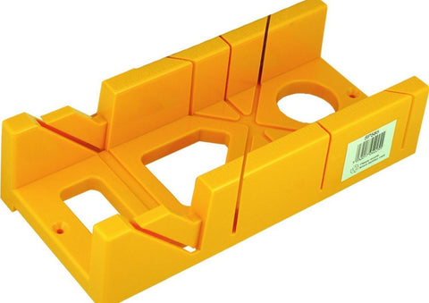 "12"" MITER BOX BLOCK CUTTER 45-90-60 DEGREE FIXED ANGLES 8"" RULED EDGE YELLOW"