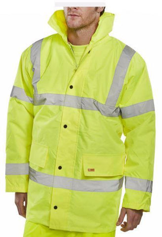 HI VIS CONSTRUCTOR JACKET - SATURN YELLOW
