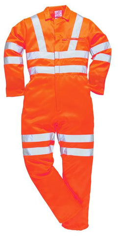 HI VIS COVERALL GO/RT POLLY-COTTON - ORANGE