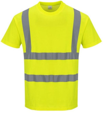 HI-VIS T-SHIRT CREW NECK SATURN YELLOW