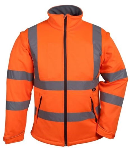 HI VIZ SOFT SHELL JACKET ORANGE