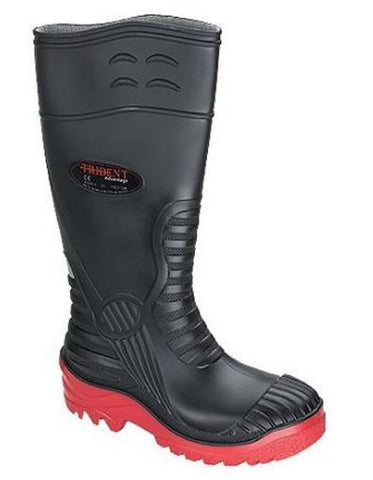 STEEL TOE WELLINGTON  BLACK PVC-NITRILE
