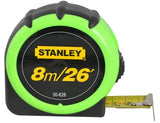 STANLEY 8M/26′ HI-VIS TAPE MEASURE