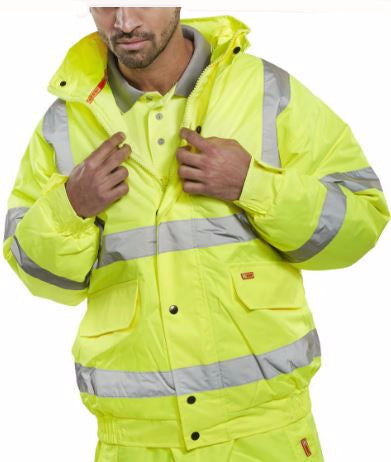 HI VIS BOMBER JACKET SATURN YELLOW