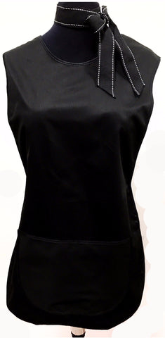 LADIES TABARD BLACK WITH POCKET (BLACK TRIM)