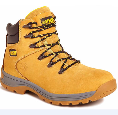 SAFETY BOOTS APACHE AP314 HONEY