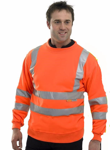 HI-VISIBILITY SWEATSHIRT ORANGE
