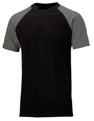 TEE SHIRT SHORT SLEEVE TWO TONE DICKIES BLACK/GREY