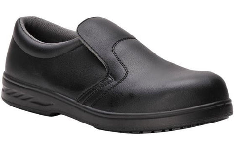 CHEFS SLIP ON SAFETY SHOES BLACK