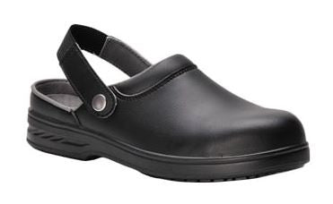 CHEFS CLOGS SAFETY SHOES BLACK