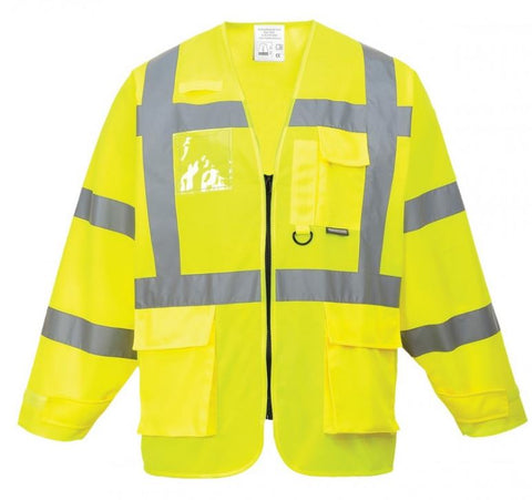 HI VIS EXECUTIVE VEST LONG SLEEVE YELLOW - PORTWEST