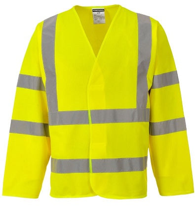 HI VIS VEST LONG SLEEVE YELLOW - PORTWEST