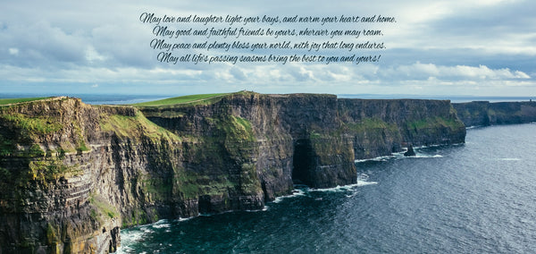 Irish Blessing Poem on Cliffs of Ireland Artwork