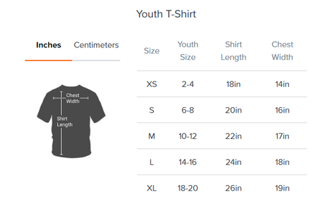 District Youth Shirt Size Chart