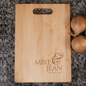 Couples Wedding Anniversary Cutting Board Gift