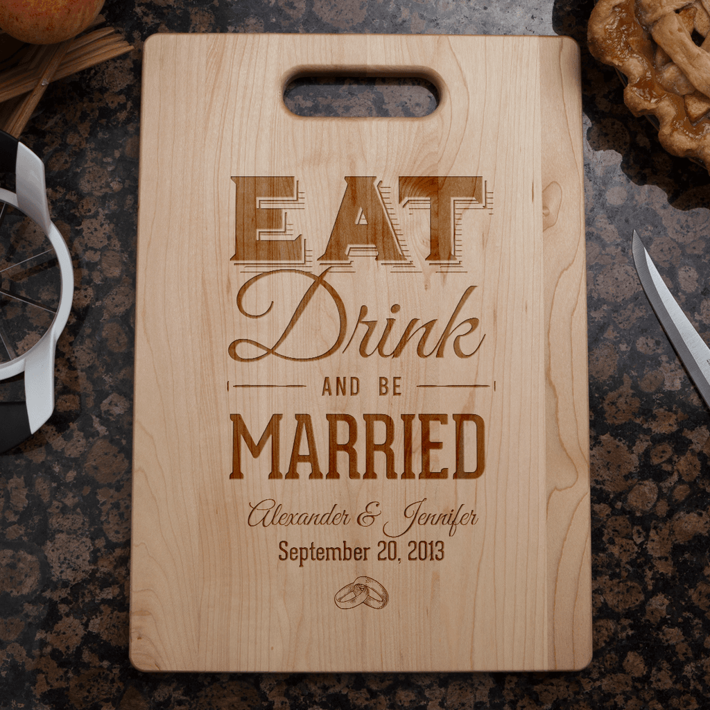 Custom Eat Drink & Be Married Gift