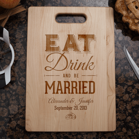 Image of Custom Eat Drink & Be Married Gift