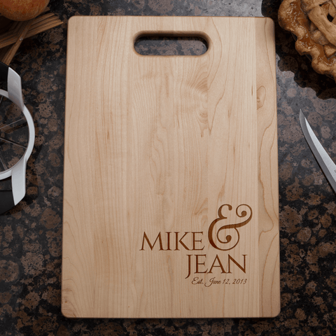 Image of Couples Wedding or Anniversary Cutting Board