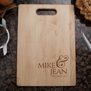 Couples Wedding or Anniversary Cutting Board