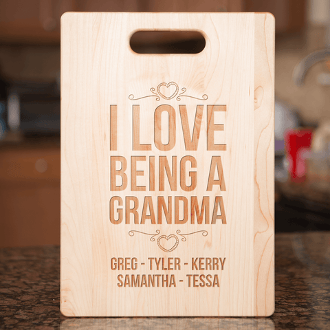 Image of Maple Cutting Board Grandma Gift