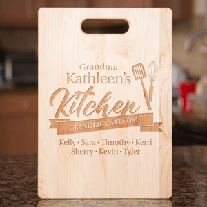 Grandkids Welcome Personalized Cutting Board Add Names