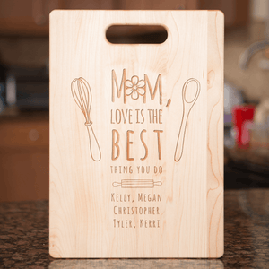 Mom's Love Personalized Cutting Board Add Names