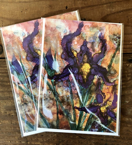 Image of Purple Irises Prints and Cards