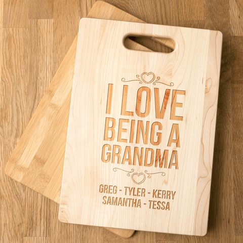 Image of Bamboo Cutting Board Grandma Gift