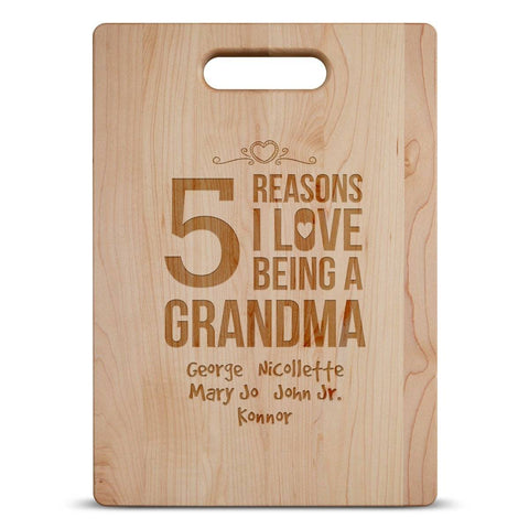 love being a grandma wood cutting board
