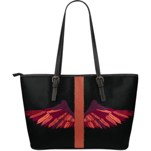 Wings Artwork Vegan Leather Tote