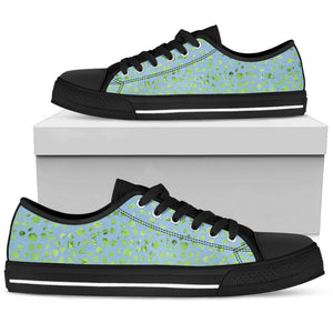 Green Blue Confetti Ladies Low Top Shoes