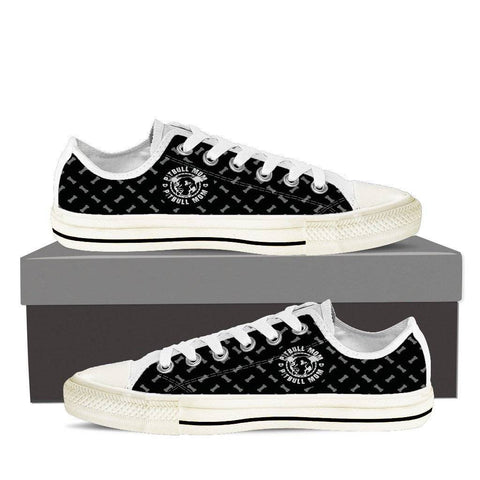 Pitbull Mom Ladies Low Top Shoes