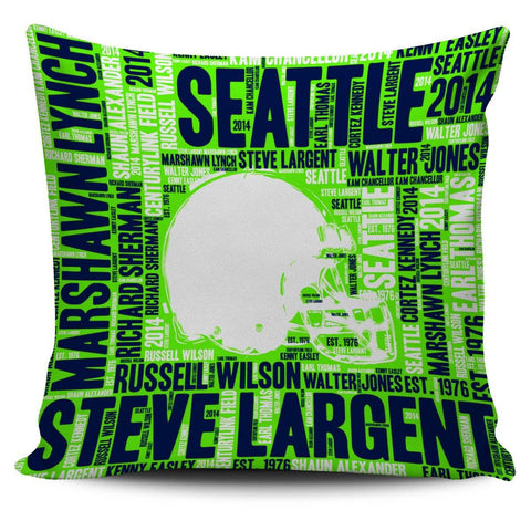 Seattle Football Helmet Pillowcase