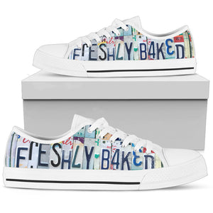 Fun Women's Baking Quote Freshly Baked Canvas Shoes