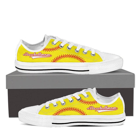 Baseball Mom Yellow Low Top Shoes