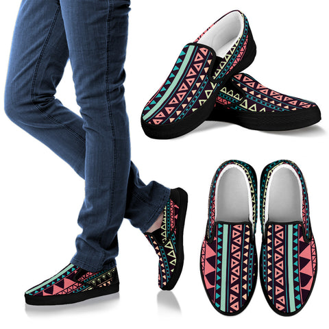 Image of Women's Chocolate Aztec Slip On Shoes