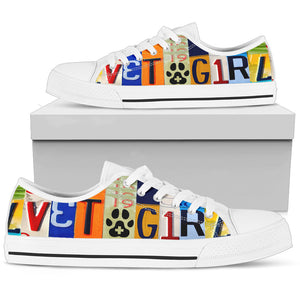 Vet Tech Vet Girl Low Top Canvas Shoes