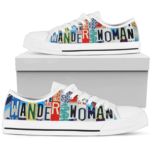 Wander Woman Graphic Canvas Low Top Shoes