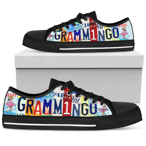 Grandma Bingo Player Grammingo Funny Custom Canvas Shoes