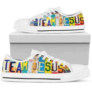Women's Christian Custom Low Top Shoes Team Jesus