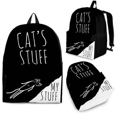 Cat's Stuff My Stuff Black and White Backpack