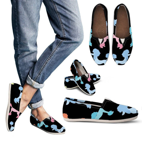Poodle Pattern Womens Casual Shoes