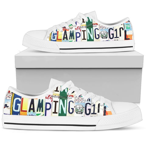 Glamping Girl Custom Canvas Low Top Shoe