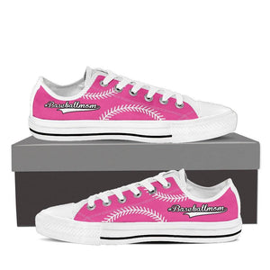 Baseball Mom Pink Low Top Shoes