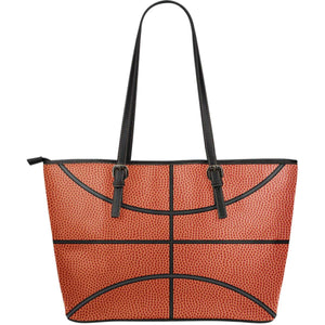 basketball pattern vegan leather tote