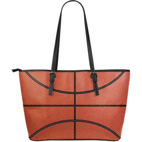 Image of basketball pattern vegan leather tote