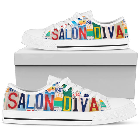 Hair Stylist Custom Design Salon Diva Women's Low Top Shoes