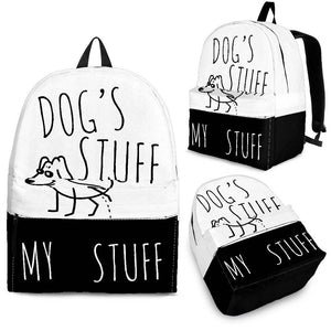 Black and White Dog's Stuff My Stuff Backpack